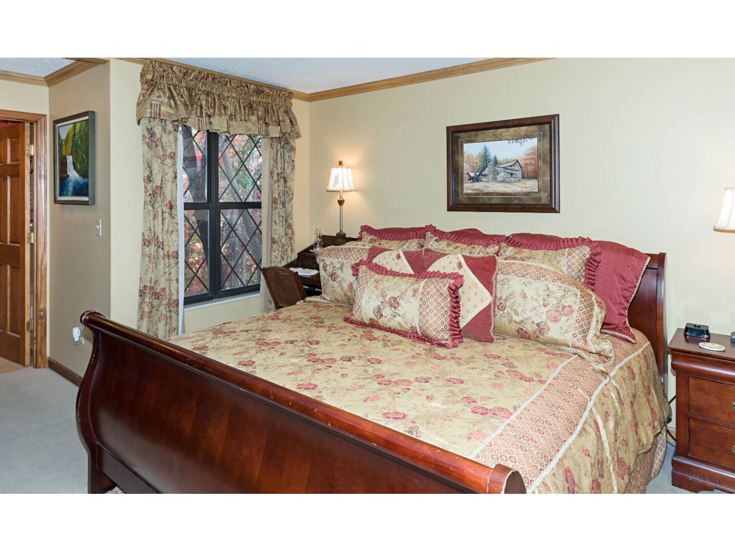 A bedroom with a large bed in a room at The Foxtrot Bed and Breakfast.