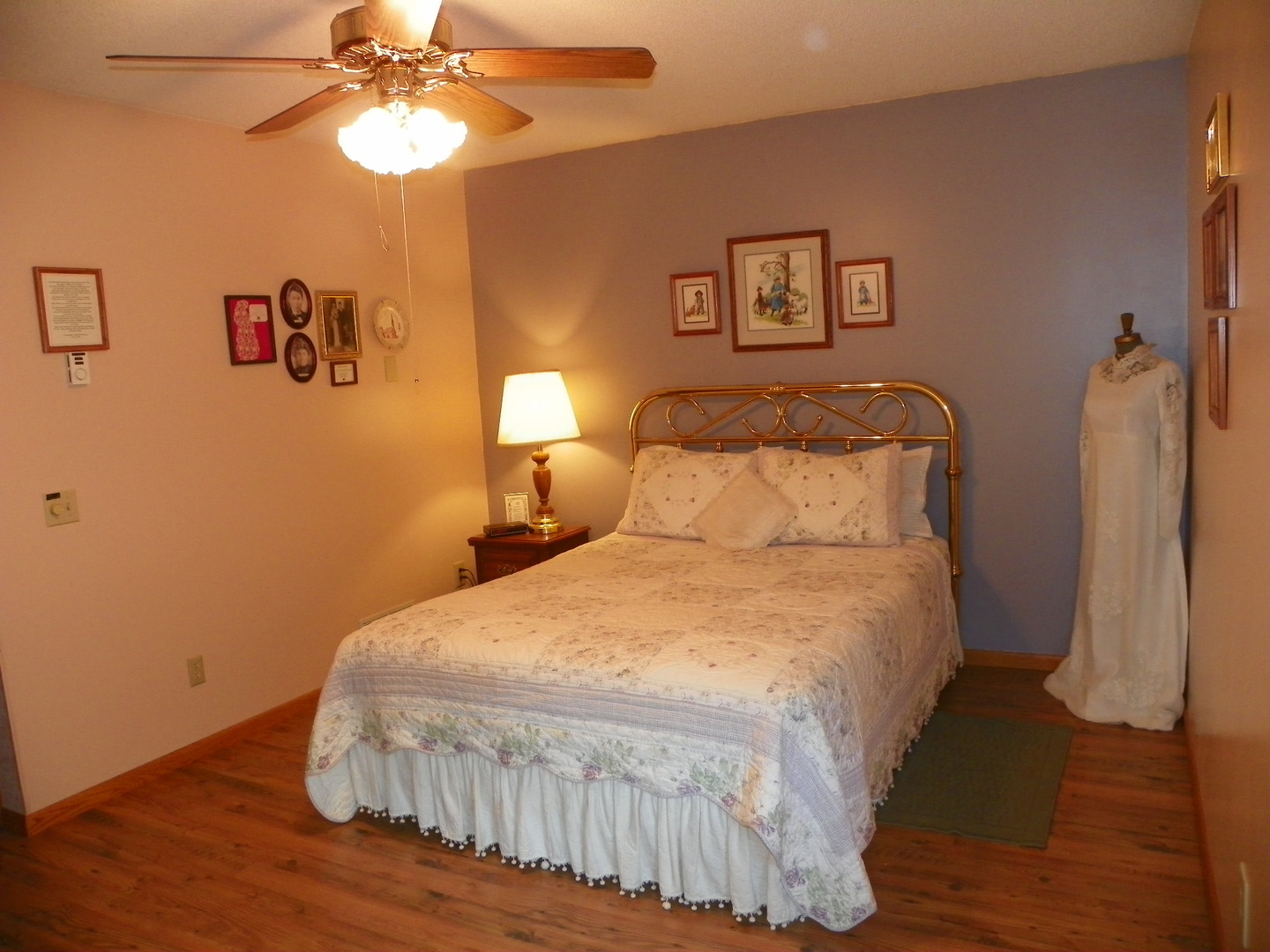 A bedroom with a large bed in a room at Pleasant Lake Bed & Breakfast.