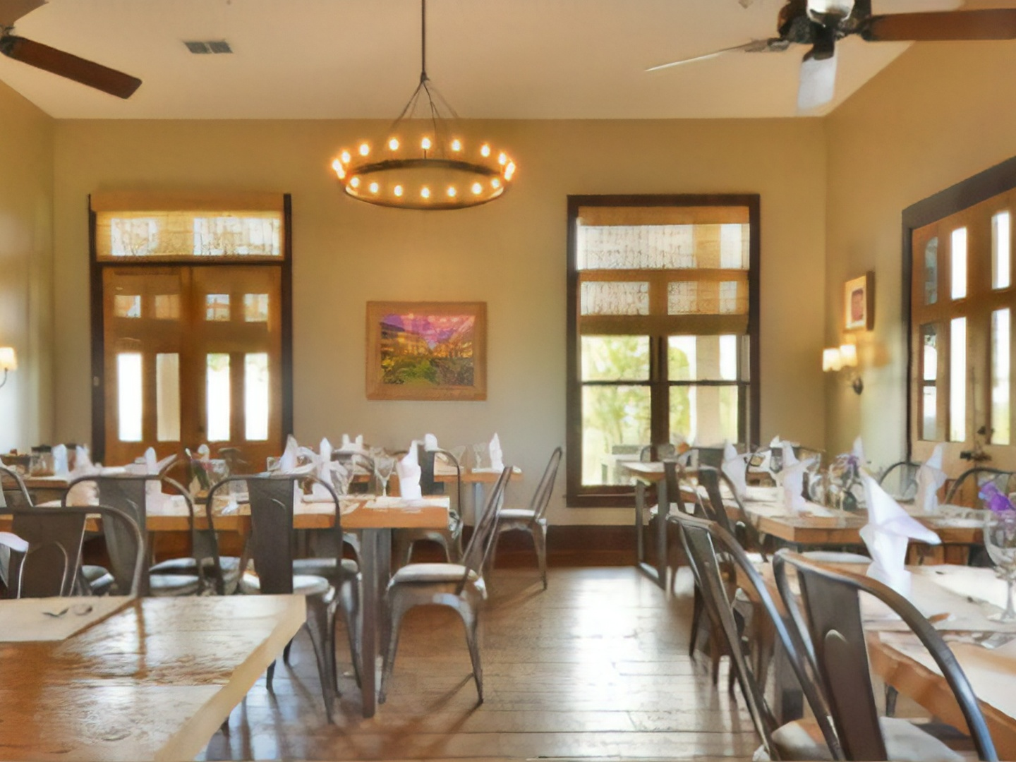 A dining room table at Sage Hill Inn & Spa.