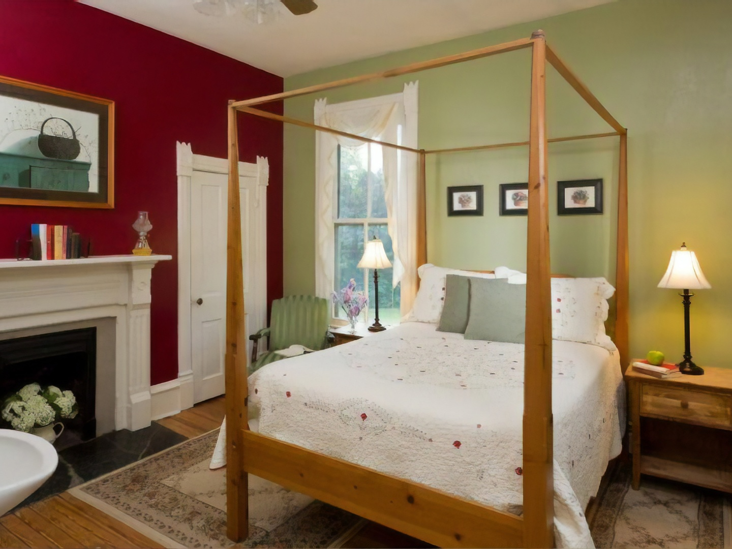 A bedroom with a large bed in a room at Afton Mountain Bed & Breakfast.