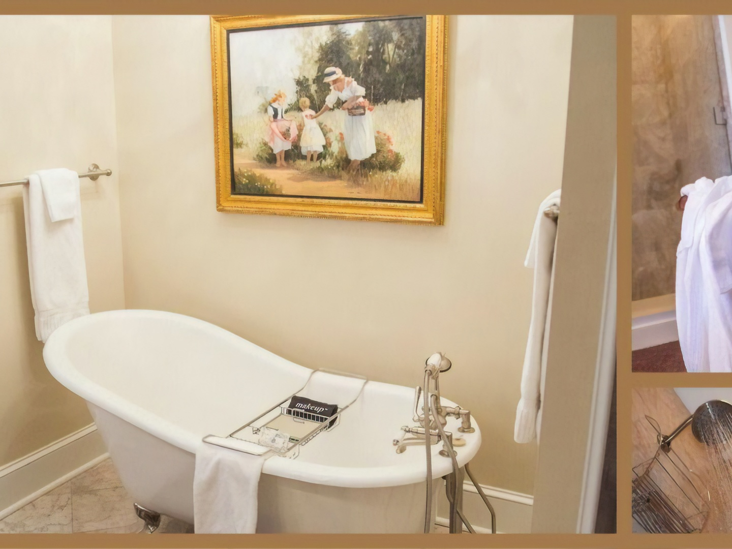 A room with a sink and a mirror at Blessings on State Bed & Breakfast.