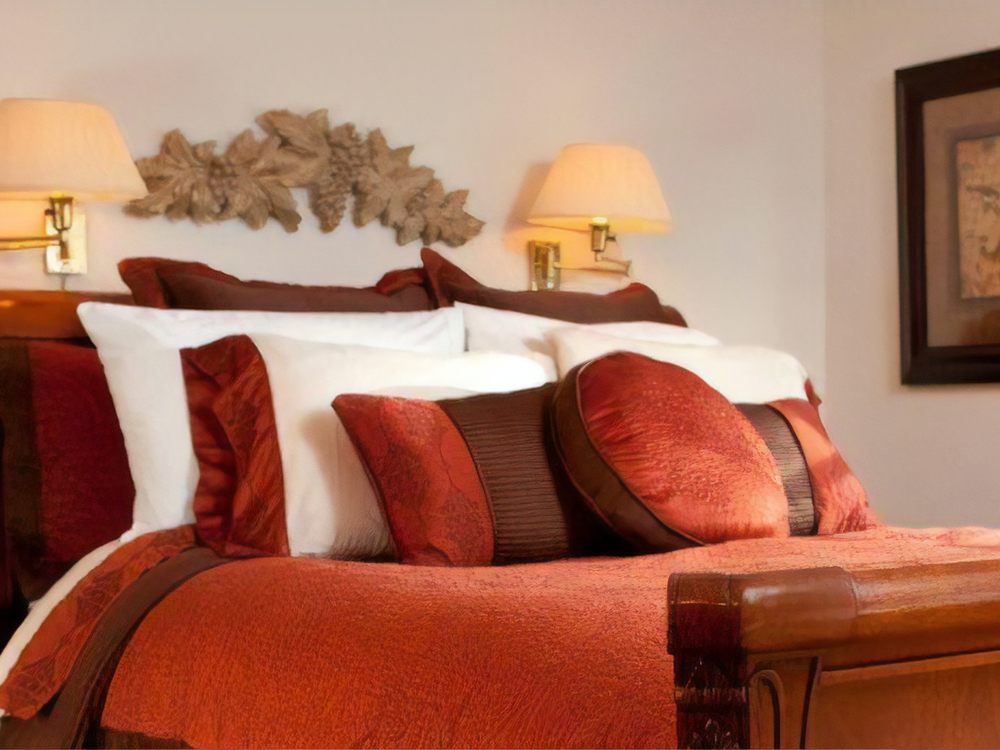 A hotel room at Stonecroft Country Inn.