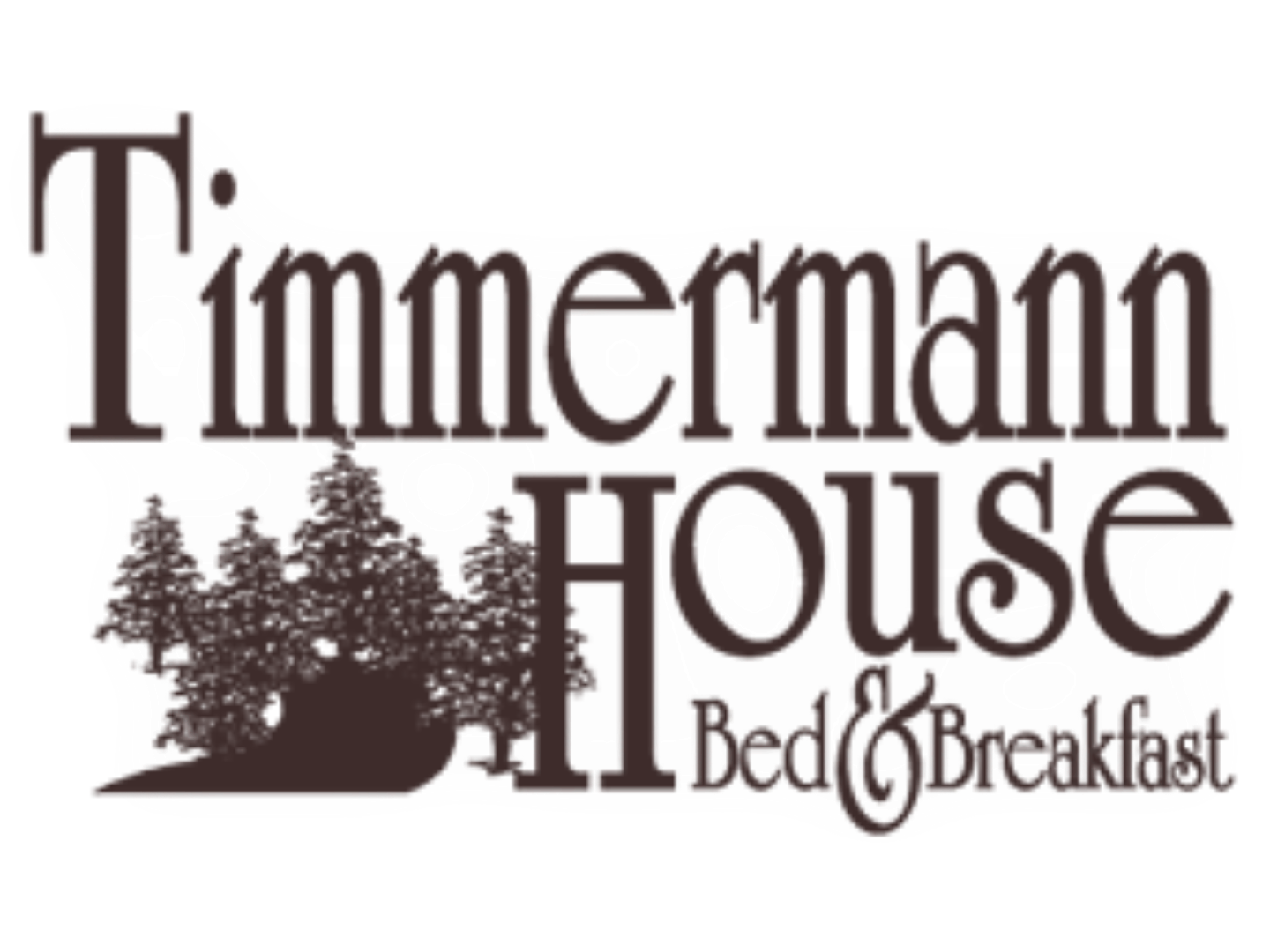 A close up of a logo at Timmermann House Bed & Breakfast.