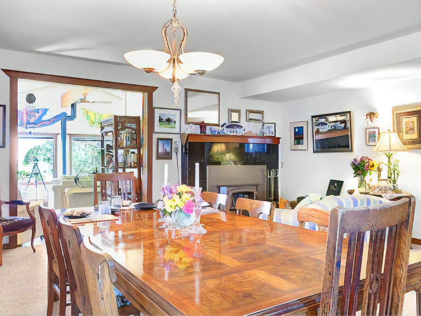 A dining room table at Boreas Bed and Breakfast Inn.