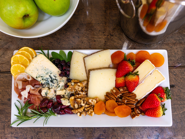 A plate of food on a table at Healdsburg Inn, A Four Sisters Inn.