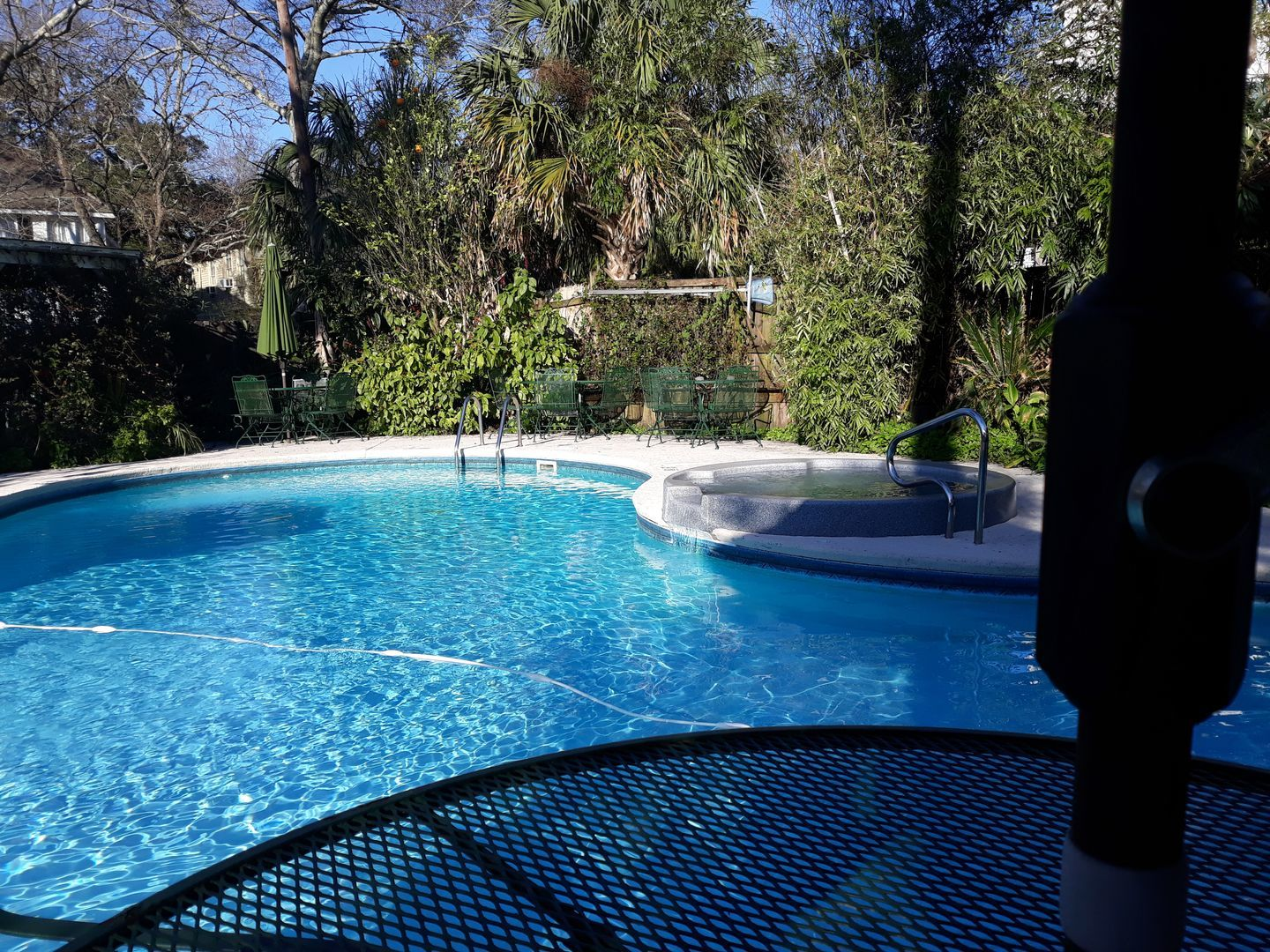 A person in a pool of water at Berney Fly Bed and Breakfast.