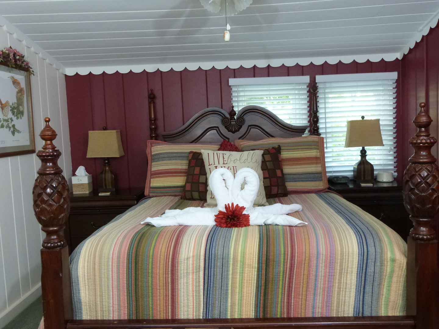 A bedroom with a bed in a room at Laurel Springs Lodge Bed and Breakfast.