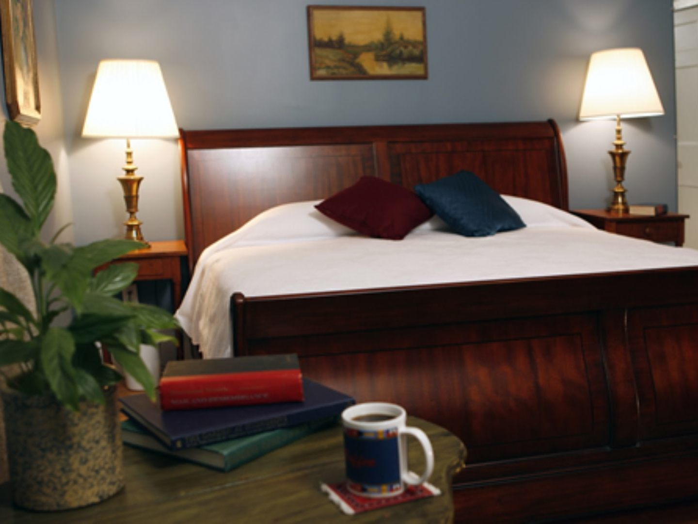 A large bed in a hotel room at Temple Hill Bed & Breakfast.