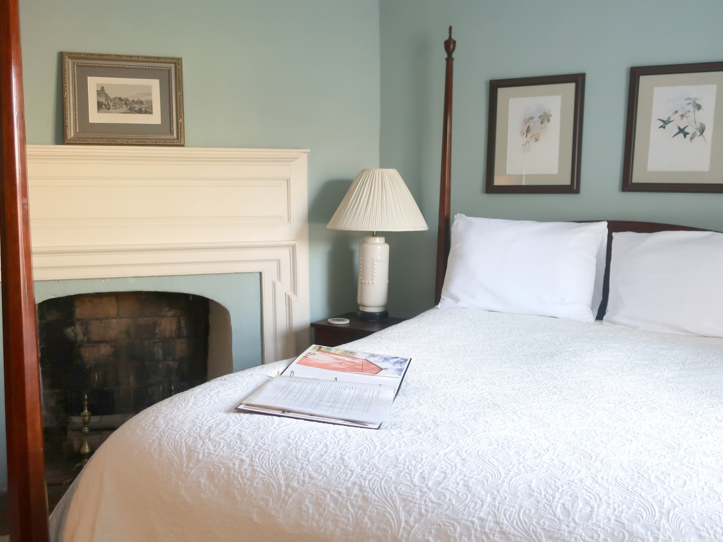 A bedroom with a large bed sitting in a room at Inn at Glencairn.