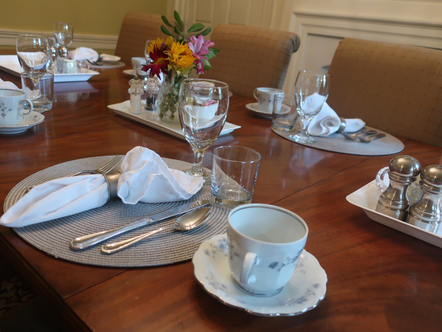 A cup of coffee on a table at Inn at Glencairn.