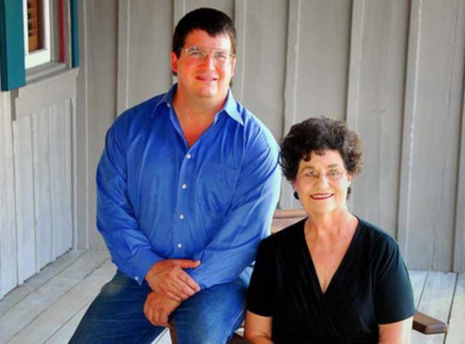 Margaret Kuebler Waldrip and son, Darrell Waldrip Innkeeper Photo