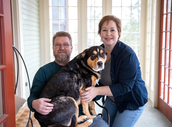 Wendy, Mike and Snickers welcome you! Innkeeper Photo