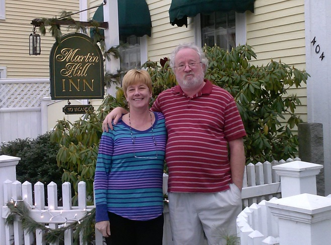 Meg and Russ welcome you to the Martin Hill Inn Innkeeper Photo