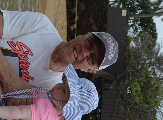 Bob with Granddaughter Innkeeper Photo