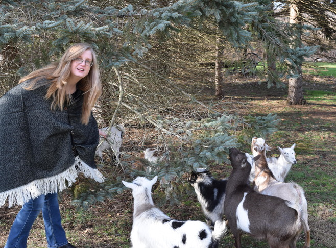 Sandra, Daniel & Goats Innkeeper Photo