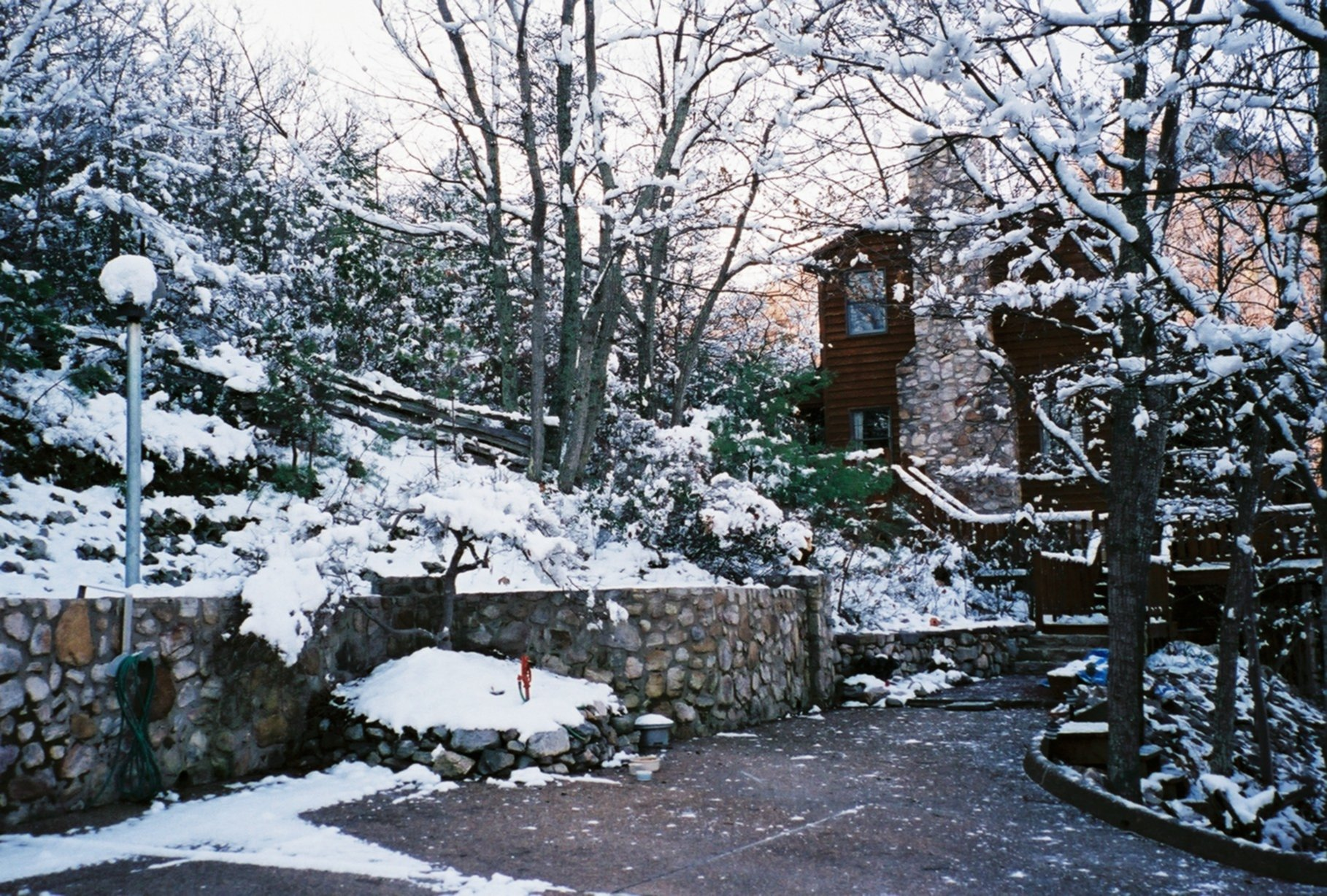 A house covered in snow at High Laurel Inn.