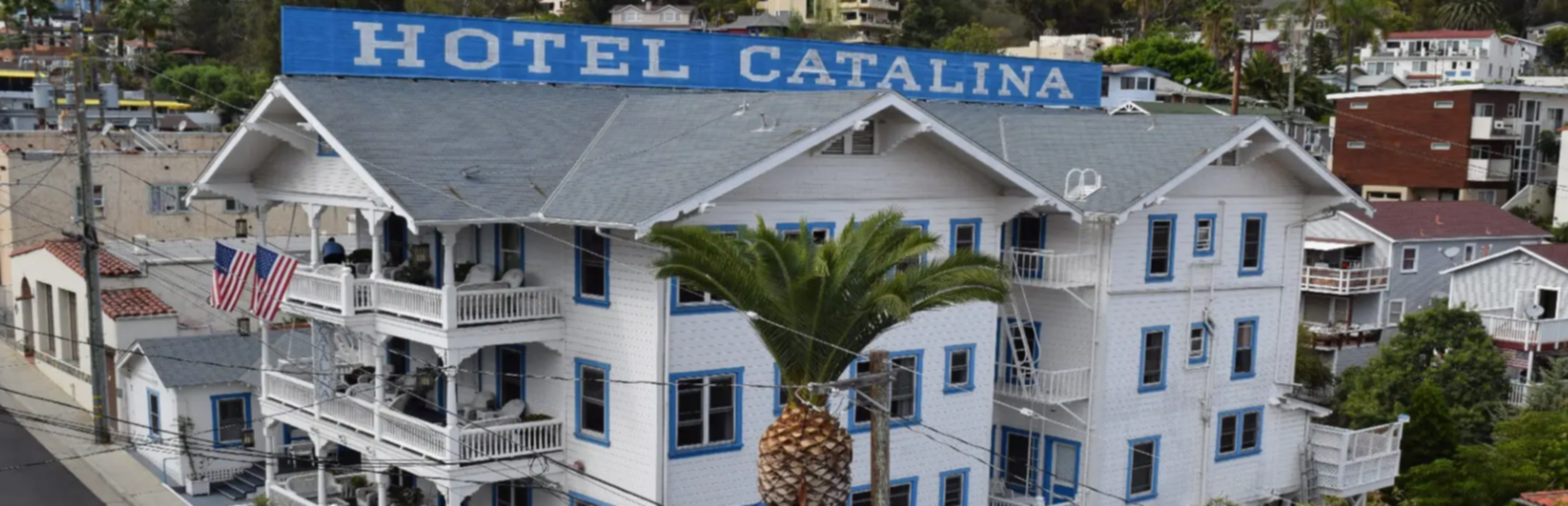 A large white building at Hotel Catalina.