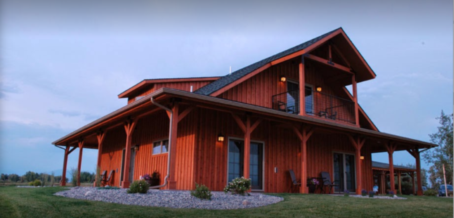 A large house at Gallatin River Lodge.