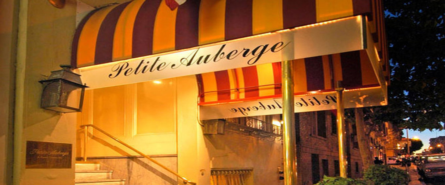 A store inside of a building at Petite Auberge.