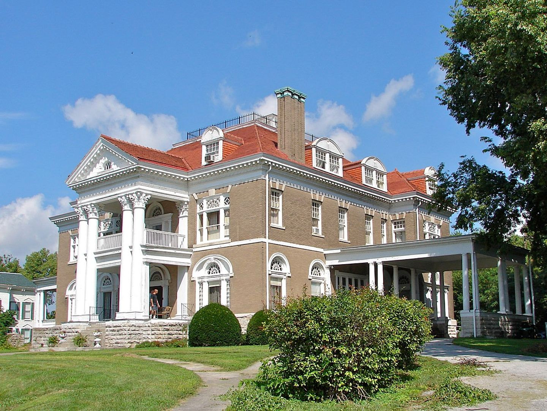 A large brick building at Rockcliffe Mansion.