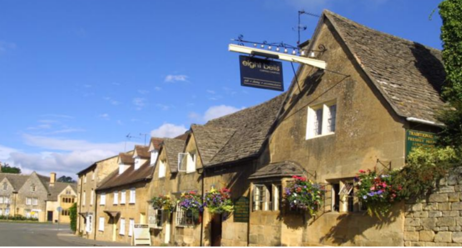 A large house at The Eight Bells Inn.