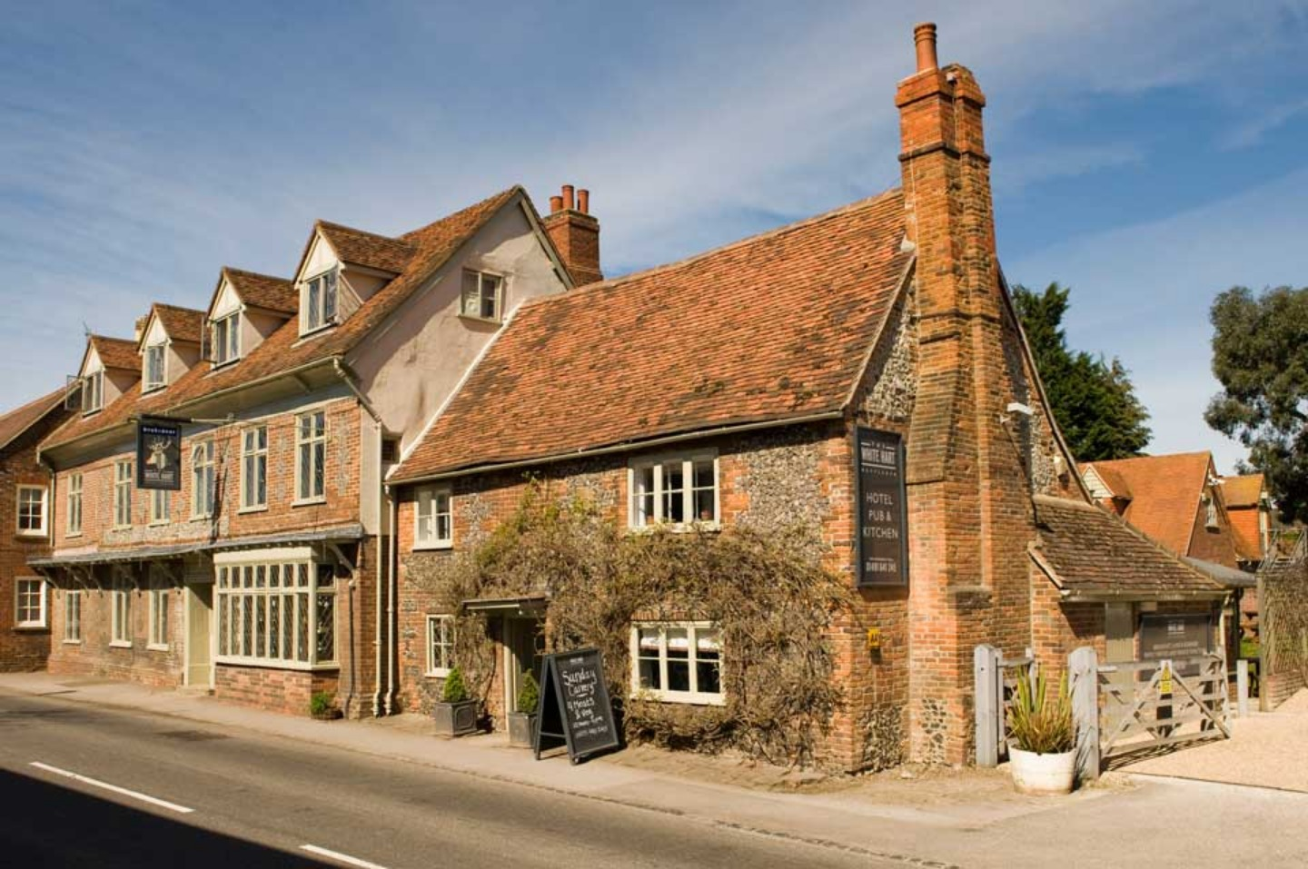 An old brick building at The White Hart.