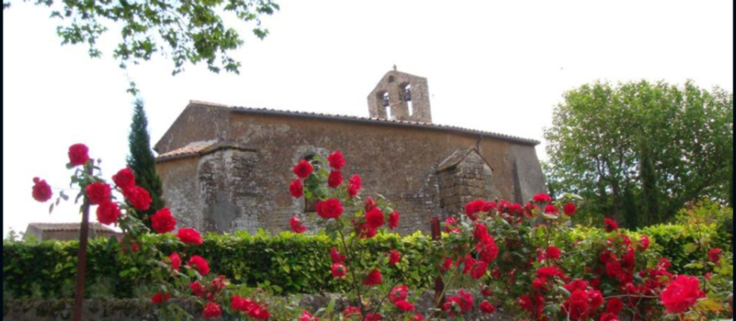 A close up of a flower garden in front of a building at ACCUEIL AU VILLAGE .