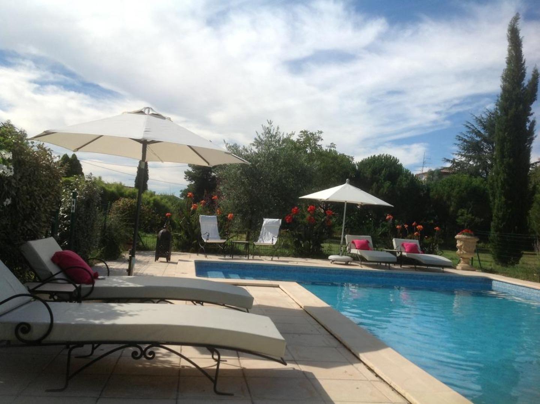 An empty pool at Le Domaine de Dubac.