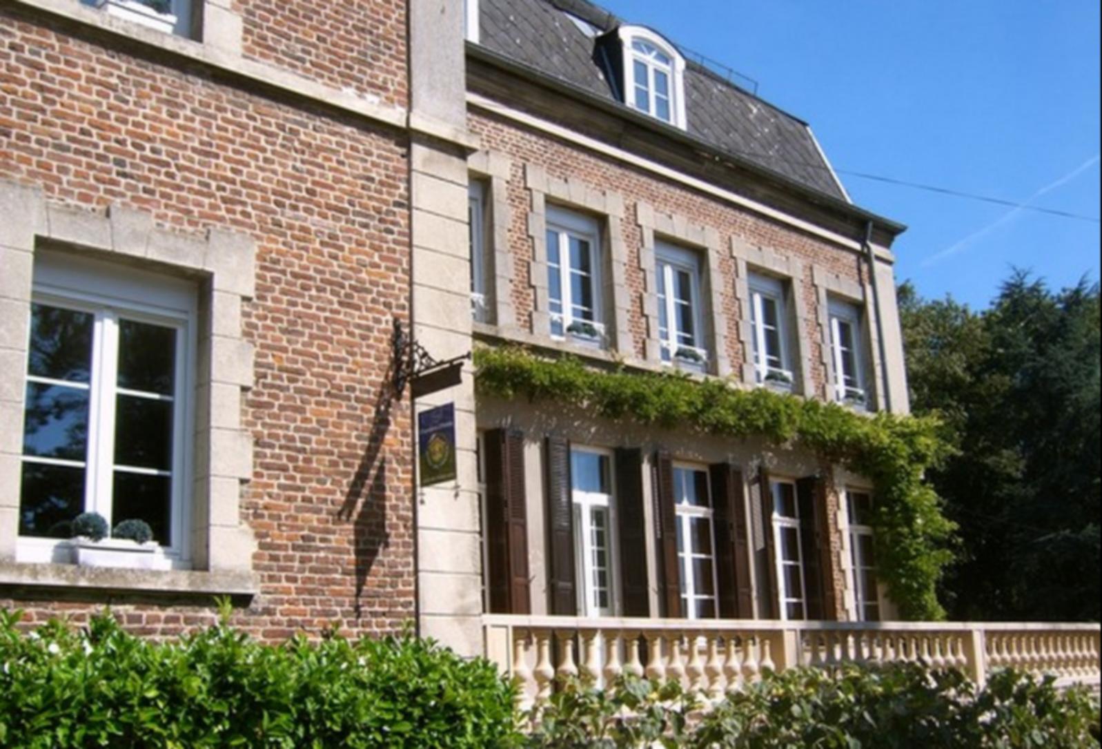 A brick building at  Clos Saint Georges.