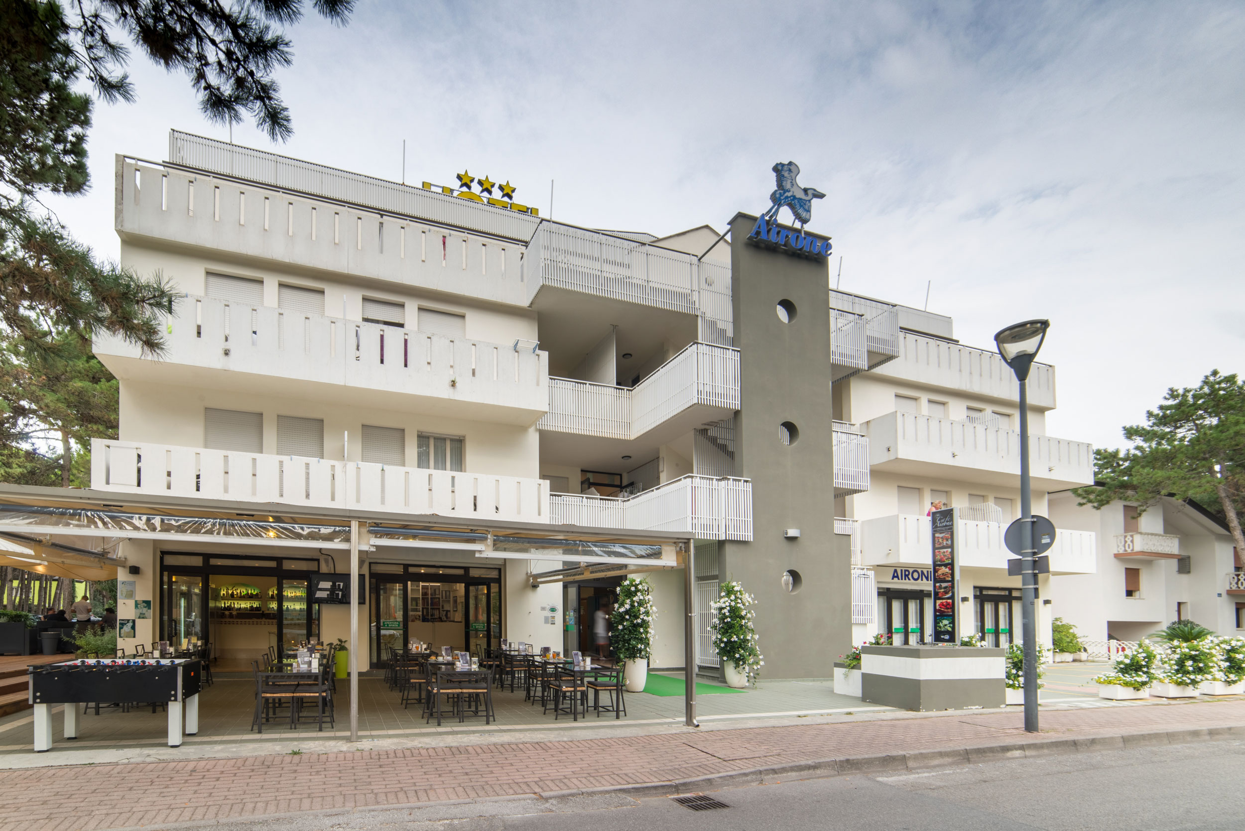 A large building at Hotel Airone Bibione.