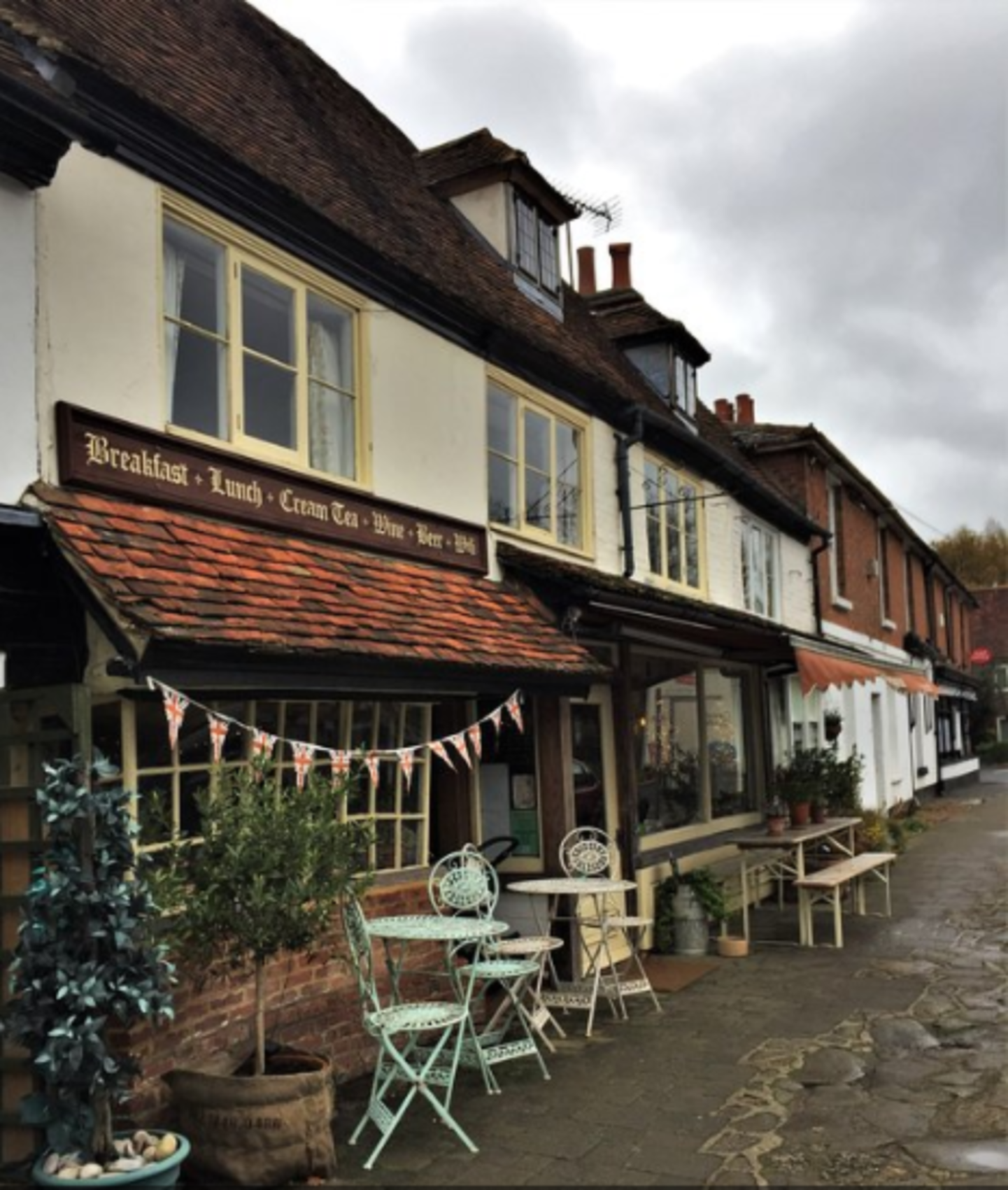 A store in a brick building at Biddenden Bed and Breakfast.