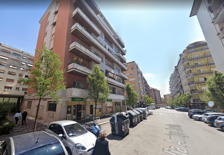 A car parked on a city street at B&B Fabio Massimo.