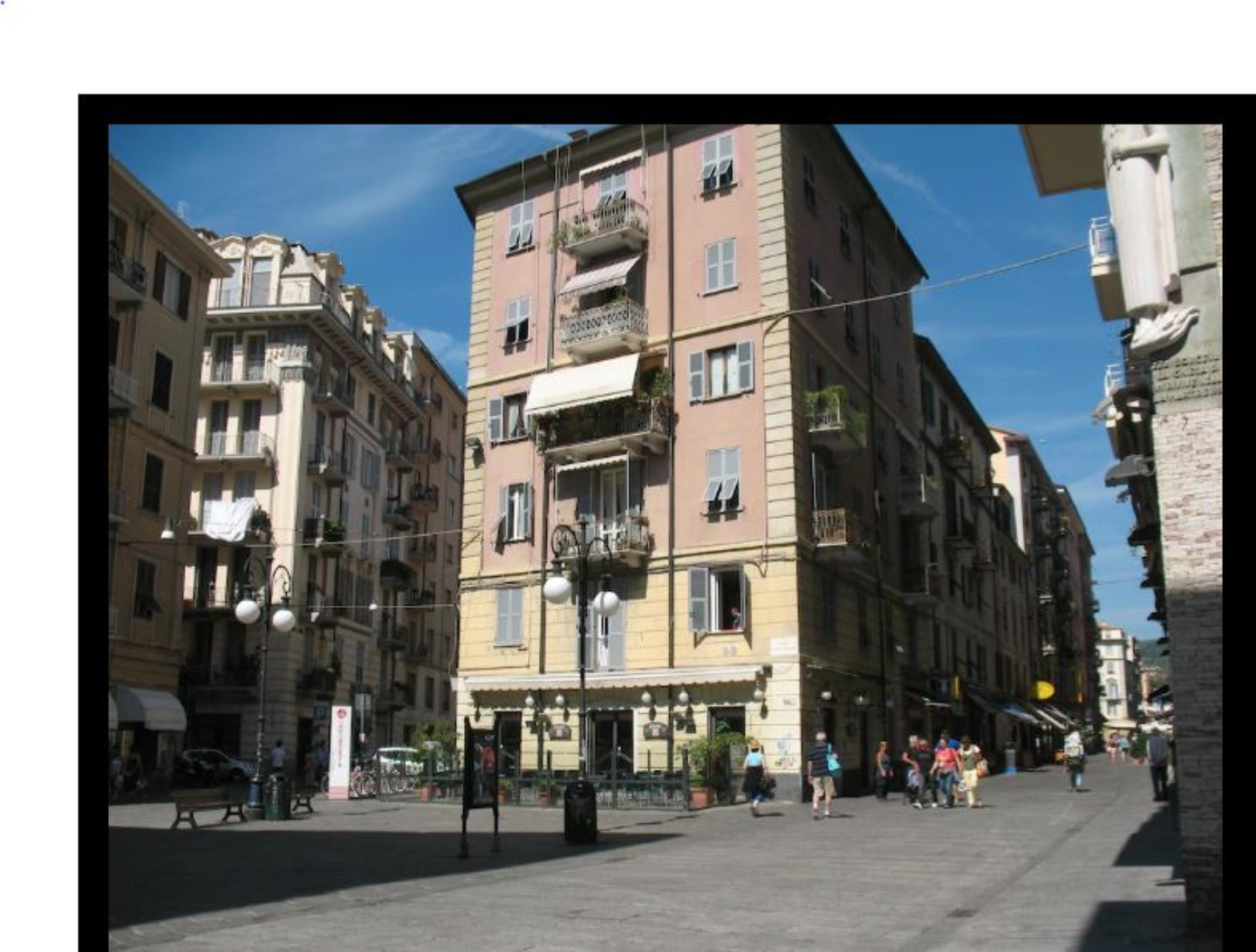 A tall building in a city at I REMI DEL PRIONE.