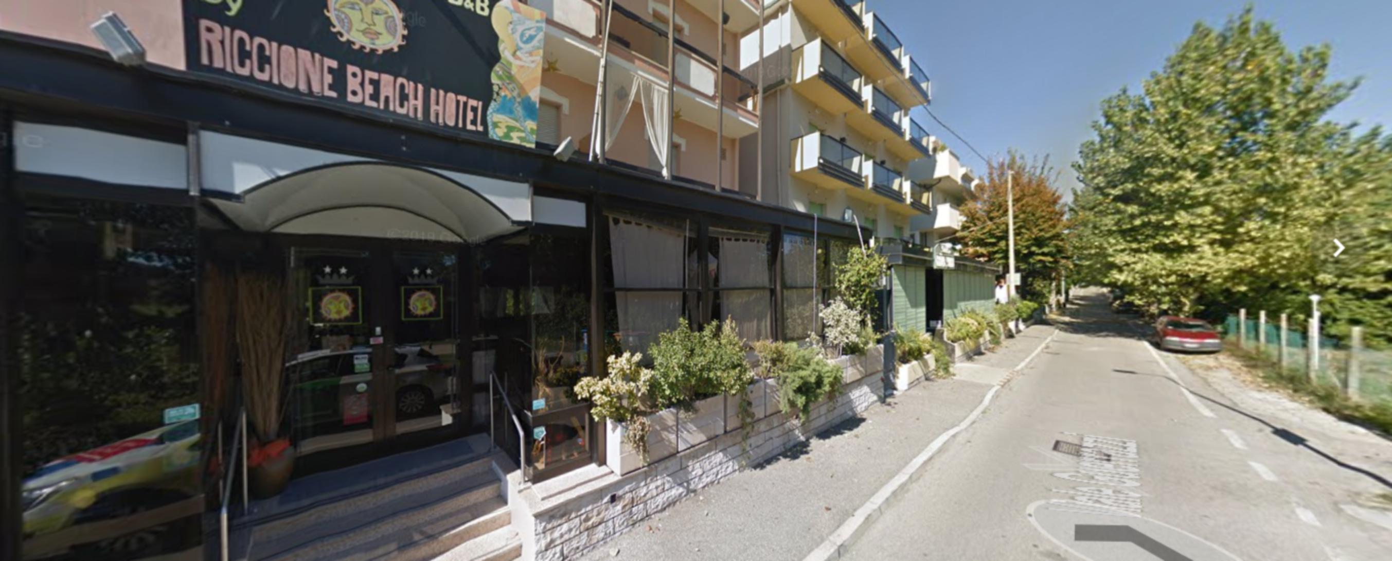 A close up of a street at Riccione Beach Hotel .