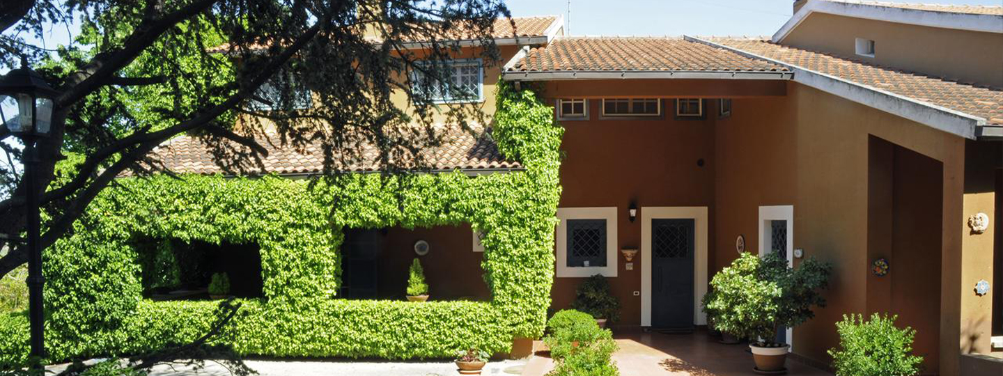 A house with bushes in front of a building at B&b The Hill .
