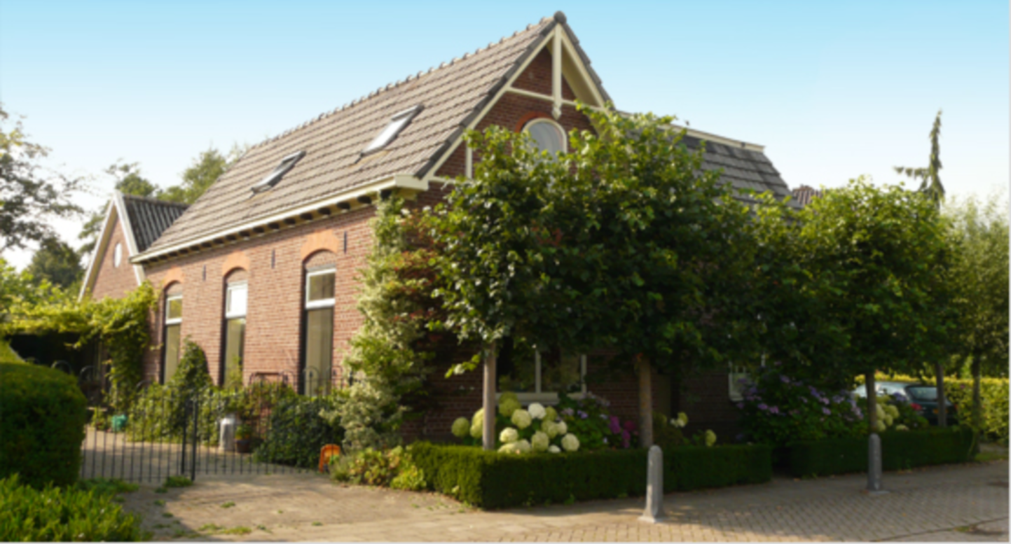 A house that is parked on the side of a building at Keijgoed.