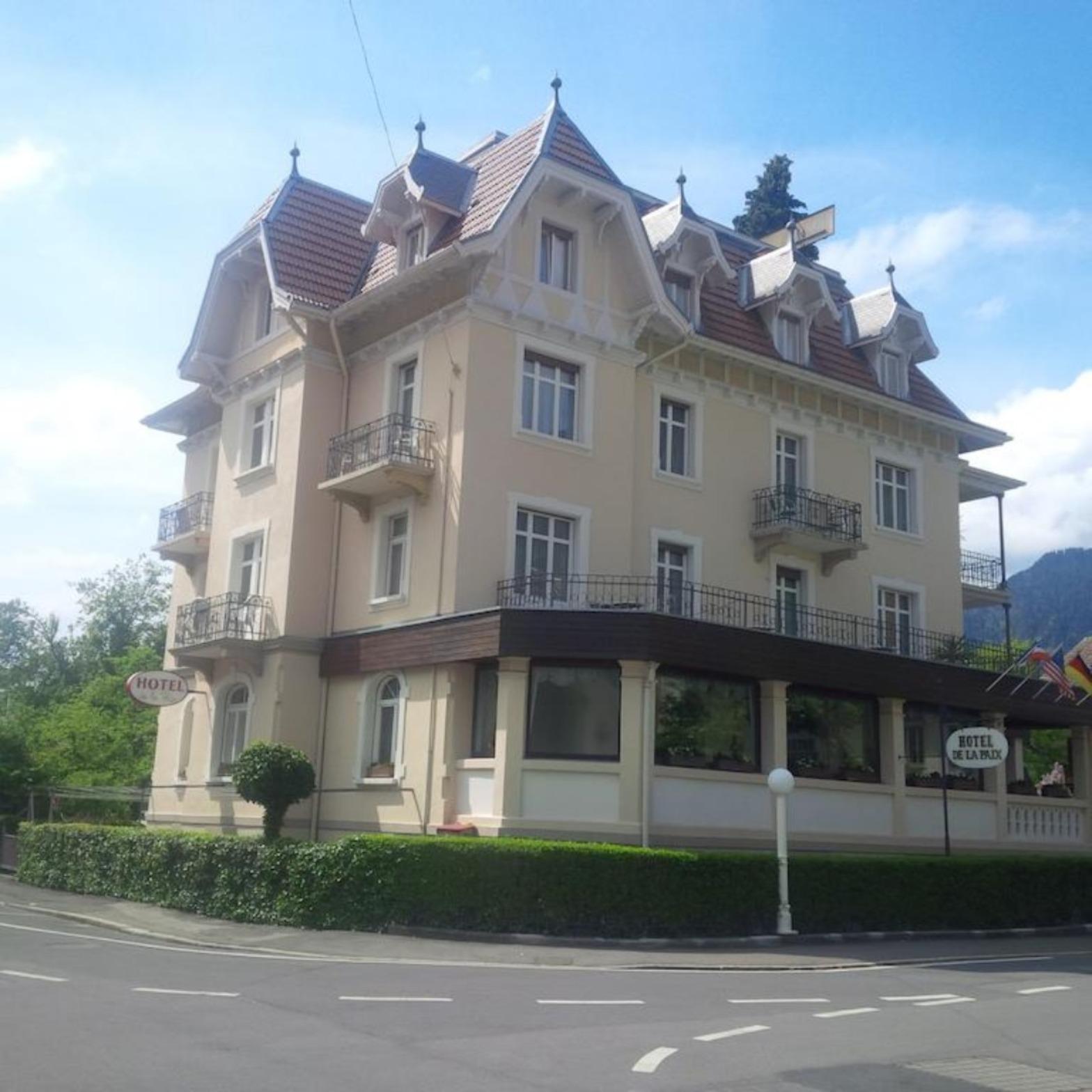 A large building at Hotel de la Paix.