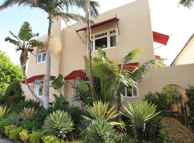 A group of palm trees at B&B Inn At La Jolla.