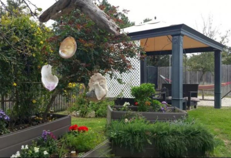 A close up of a flower garden at Beth &Bella Tx Concierge.