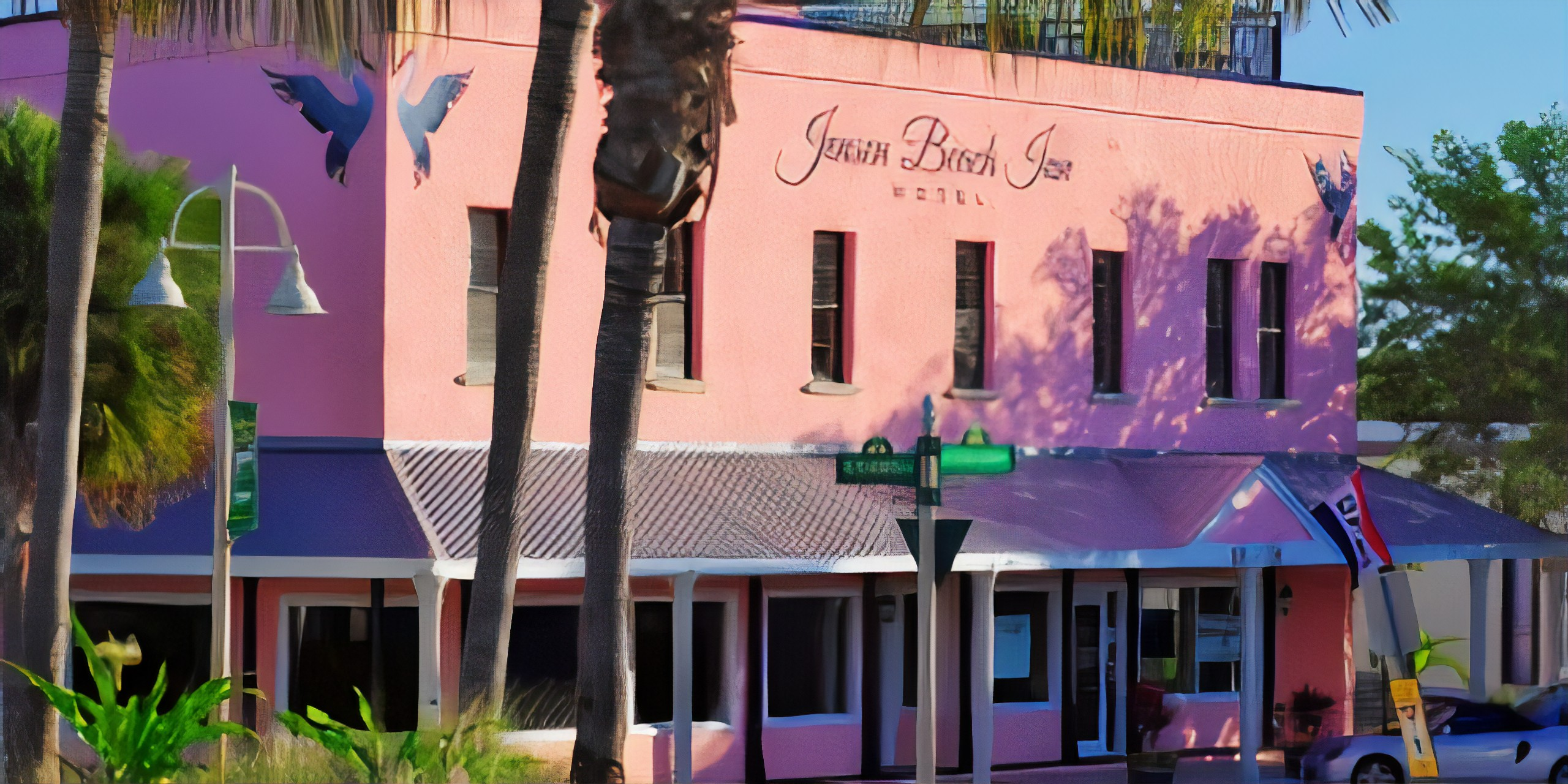 A store front at day at Jensen Beach Inn.