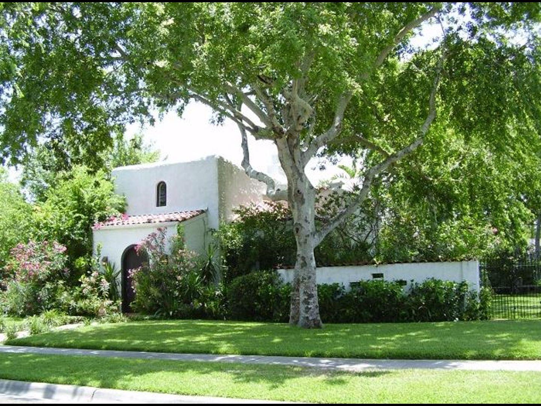 A tree in front of a house at Villa la Casita.