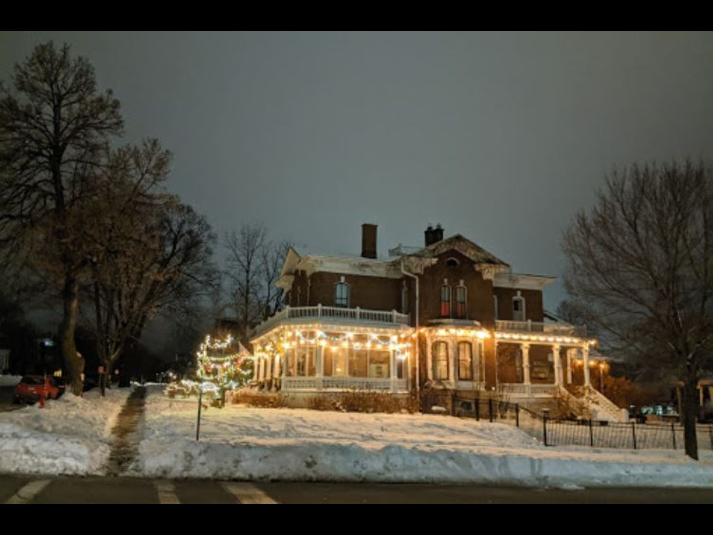 A house covered in snow at Pratt-Taber Inn.