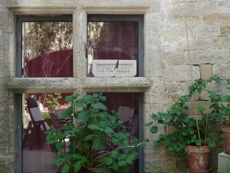 A close up of a brick building at La Villages.