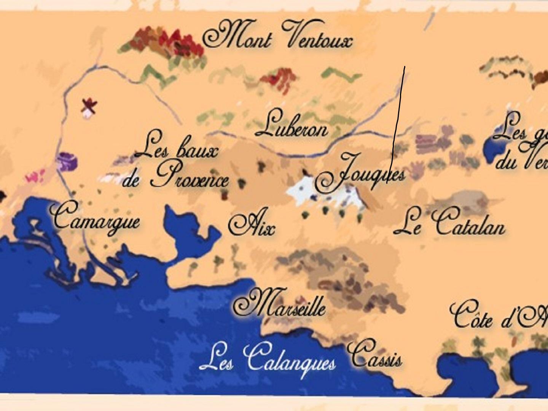 Map at LE CATALAN.