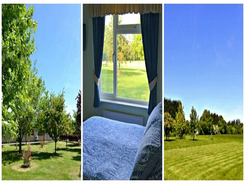 A view through a window at Little Bullocks Farm.