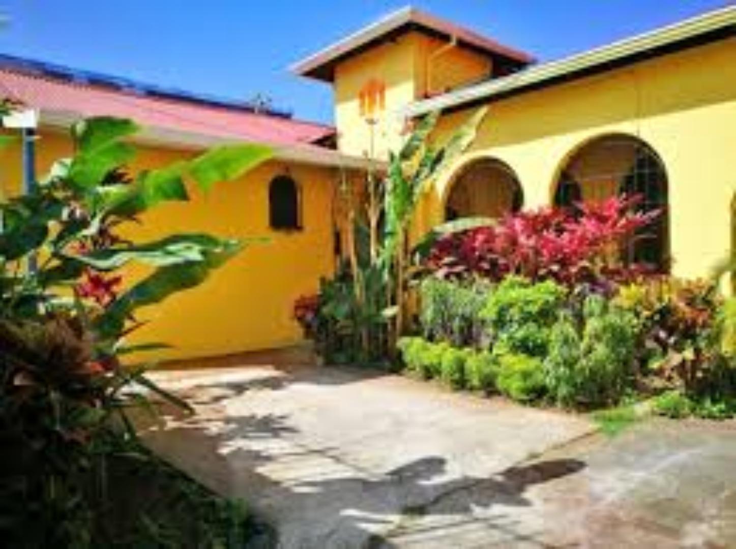 A close up of a garden at Casa 69 Costa Rica.