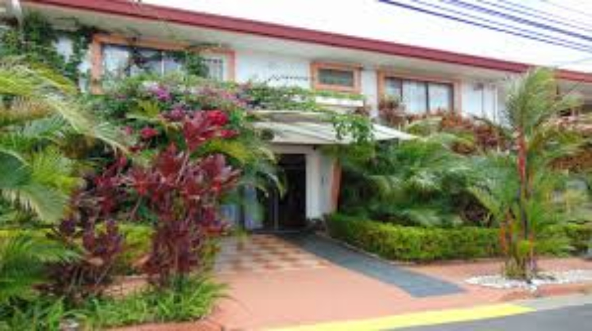 A house with bushes in front of a building at Casa Lima Bed & Breakfast.