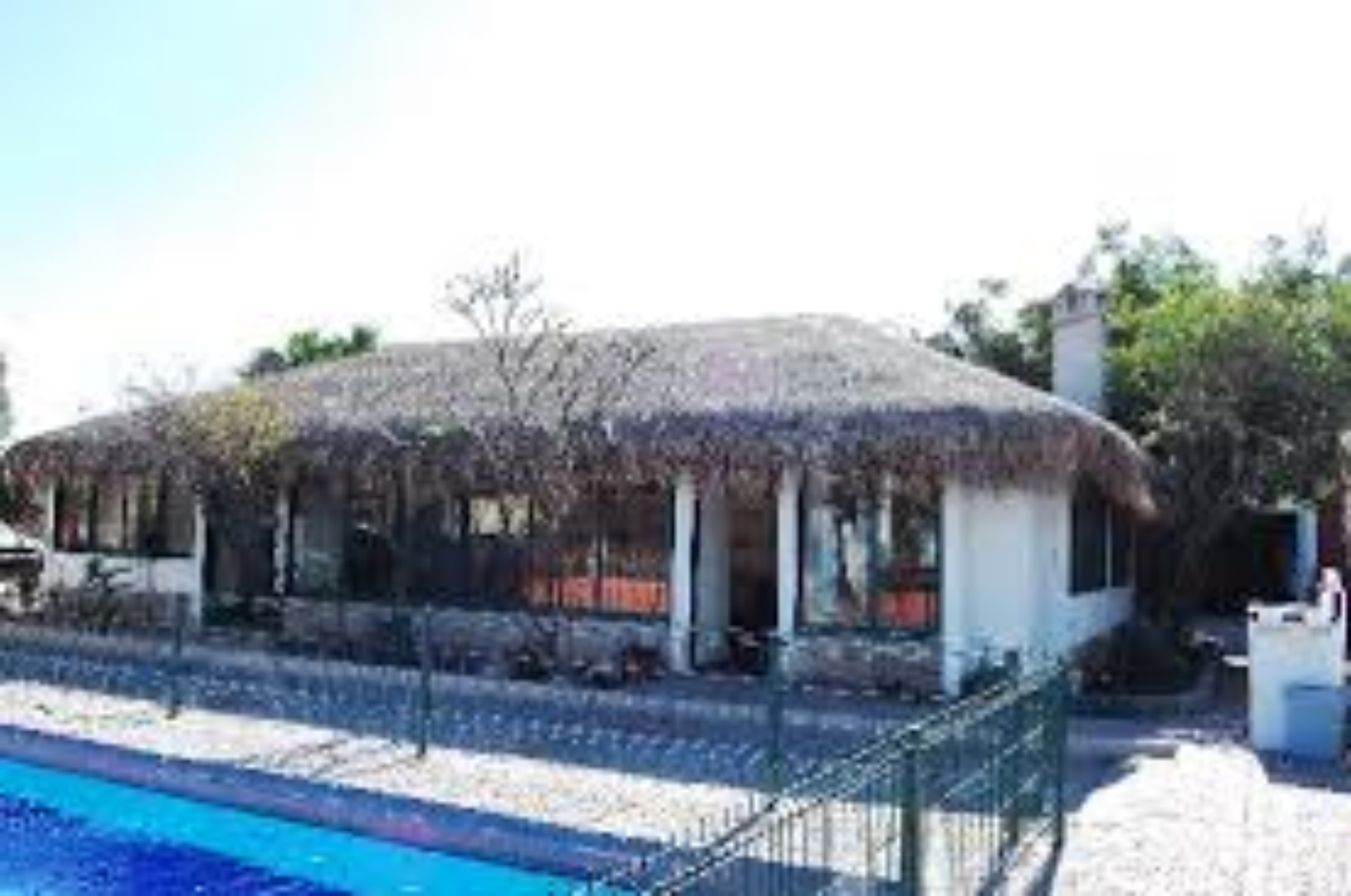 A house covered in snow at Casabuena La Paz Bed and Breakfast.